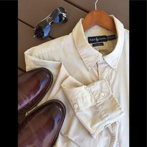 Men's Ralph Lauren Cream Color Big Shirt